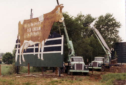 The World's Largest Cow Makes Room for Highway Expansion