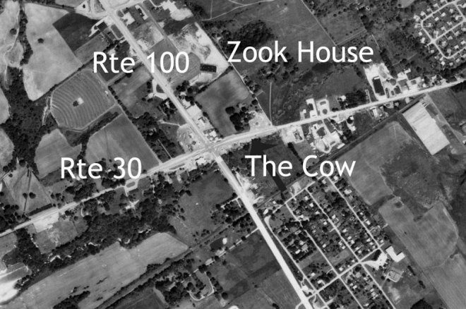 Exton, PA Crossroads 1971 - Routes 100 & 30