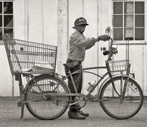Willie Minor and his bicycle
